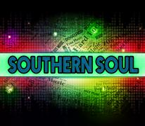 Southern Soul Represents Rhythm And Blues And American - stock illustration