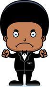 Cartoon Angry Groom Boy - stock illustration