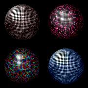 Disco balls - stock illustration