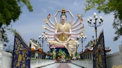 Wat Plai Laem Buddhist temple on the resort island of Ko Samui Stock Footage