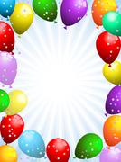Stock Illustration of Balloons and confetti