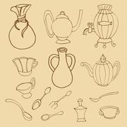 Stock Illustration of Kitchenware stylish
