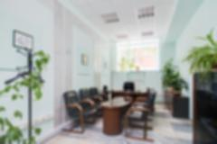 Office interior theme blur background Stock Photos