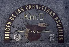 Madrid Sol Zero KM - stock photo