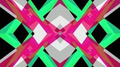 Kaleidoscopic Stripes Red Green Grey Stock Footage