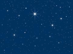 starry sky - stock illustration