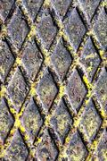 Metal Texture Painted Oxide Floor Close Up Stock Photos