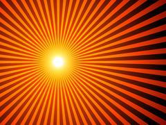 sunburst background - stock illustration