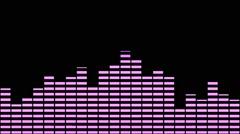 Music Equaliser  Pink Stock Footage