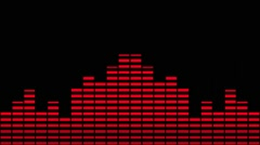 Music Equaliser  Red Mirrored Stock Footage
