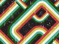 Grunge retro striped background - stock illustration