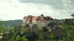 Fortress Burg Burghausen Timelapse Stock Footage