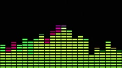 Music Equaliser  Pink Yellow Stock Footage