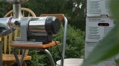 Home made tomato pasta sauce equipment-slider shot Stock Footage