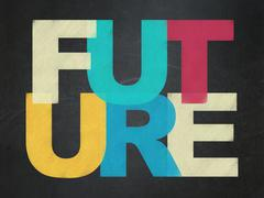 Time concept: Future on School Board background Stock Illustration