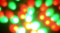 Abstraction of the little red-green light Stock Footage
