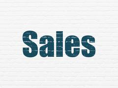 Advertising concept: Sales on wall background - stock illustration
