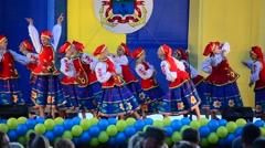 Children dance national dances Stock Footage