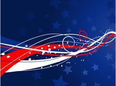 Patriotic background - stock illustration