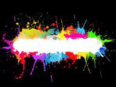 Stock Illustration of Paint splat background