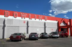 Bowling Alley Exterior - stock photo