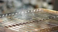 empty grill ready for barbecue - stock footage