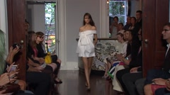 New York Fashion Week 2015 - Monse Spring Collection Stock Footage