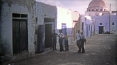 1972: Moroccan ancient old town part of the port city. Stock Footage