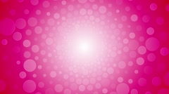 Rotating pink background with a circle of love infinite loop Stock Footage