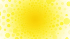 Rotating bright yellow background with circles summer sun endless loop - stock footage