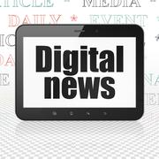 Stock Illustration of News concept: Tablet Computer with Digital News on display