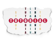 Stock Illustration of Education concept: Tutorial in Crossword Puzzle