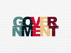Stock Illustration of Politics concept: Government on wall background