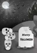 Stock Illustration of happy halloween gravestone