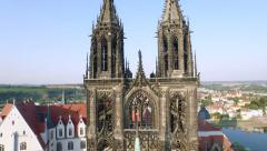 Meissner Dom Aerial View Stock Footage