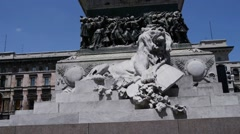 Monument to Victor Emmanuel II in Milan Stock Footage