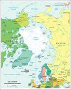 Stock Illustration of Arctic Region political map