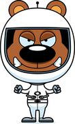 Stock Illustration of Cartoon Angry Astronaut Bear