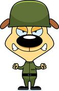 Stock Illustration of Cartoon Angry Soldier Puppy