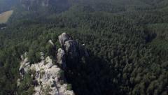 Saxon Switzerland Aerial View - stock footage