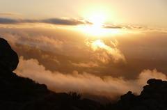 Porter Ranch Sunrise in Los Angeles California - stock photo