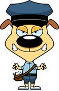 Stock Illustration of Cartoon Angry Mail Carrier Puppy