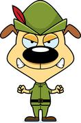 Stock Illustration of Cartoon Angry Robin Hood Puppy