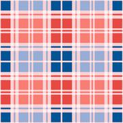 Rectangular seamless pattern in red an blue trendy hues - stock illustration