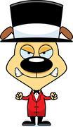 Cartoon Angry Ringmaster Puppy - stock illustration