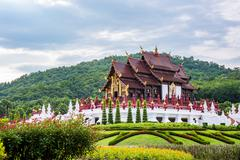 Ho kham luang traditional thai architecture in royal flora expo,Chiang mai, T - stock photo