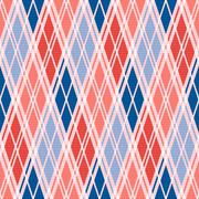 Rhombic seamless pattern in red an blue trendy hues Stock Illustration