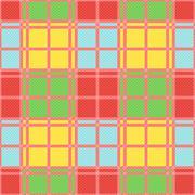 Rectangular seamless pattern in motley trendy colors Stock Illustration