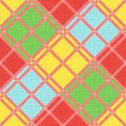 Diagonal seamless pattern in various motley colors - stock illustration
