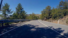Mountain roads of Cyprus, Time Lapse POV driving Stock Footage